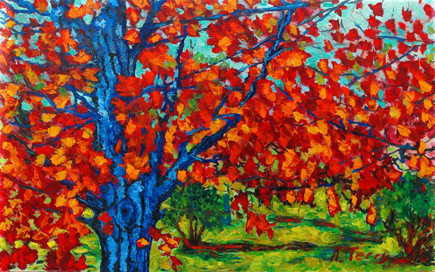 Paintings Of Trees On Canvas